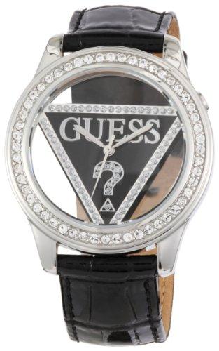 Guess W10216L2 - Reloj Unisex movimiento de quarzo con correa de piel negro / plata