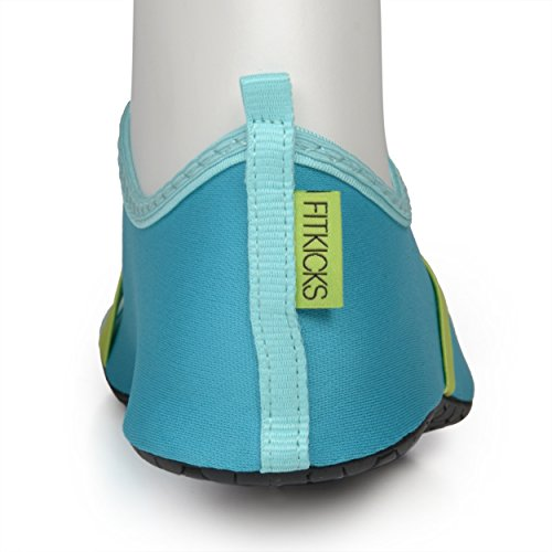 Fitkicks - Calzature resistenti all'acqua, flessibili, basse, ballerine, da viaggio, per yoga Turquoise/Green