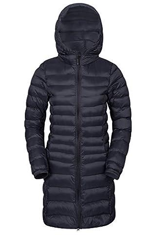 Mountain Warehouse Manteau femme Veste matelassée longue Florence Noir 36