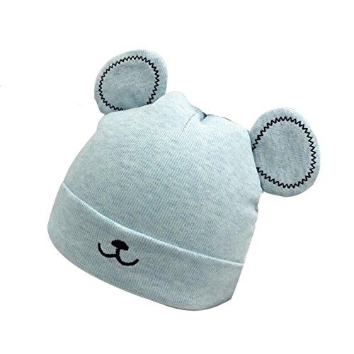 onsee Winter Jungen Mädchen Hut Tiere Design Soft Wollene Hüte Kinder Cap Unisex Einfabrig und Streifen (Blau) (Winter Mützen Für Kinder)
