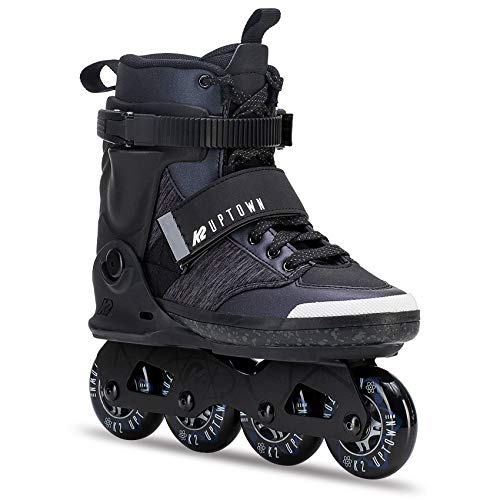 K2 Damen Herren Inline Skates Uptown - Schwarz-Grau - EU: 43.5 (US: 10 - UK: 9) - 30C0250.1.1.100 -