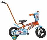 Bicicleta Niño Disney Planes con Barra de Aprendizaje 10 pulg Naranja 2-4 años