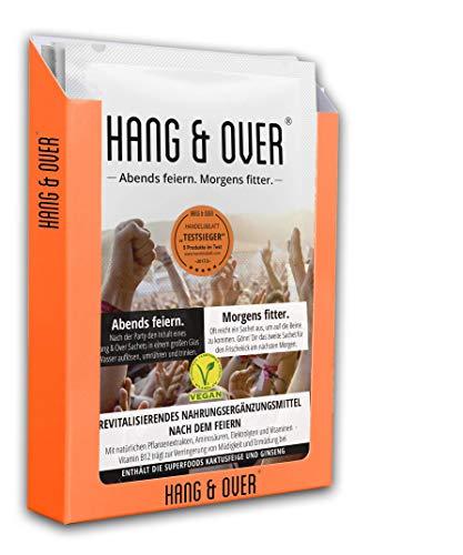 Hang & Over ® - NEU bei dm - 5X2 hochdosierte Doppelsachets - Abends Feiern. Morgens Fitter - Handelsblatt Testsieger mit bester Wirkung - Feel-Good-Effekt nach dem Feiern - Mit Vitamin B12 Gegen Ermüdung