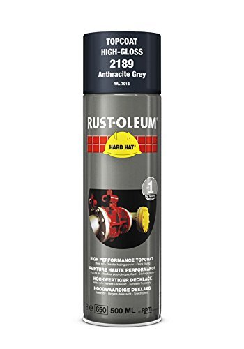 Rust-Oleum Industrial High Gloss Anthracite Grey RAL 7016 Hard Hat 2189 Aerosol Spray 500ml (12 Pack)