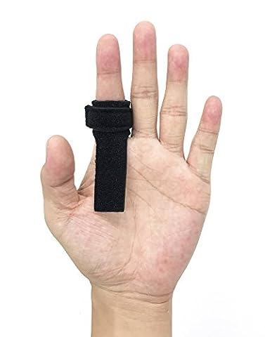 Wommty Verstellbare Weiche Baumwolle Trigger Finger Splint / Fingerbandage / Fingerschiene mit Extra Klettband & Loop Tape, Dehnbare Fingerverband für Finger Steifheit, Schmerzlinderung von Stenosing (Erste-hilfe-chirurgische Tape)