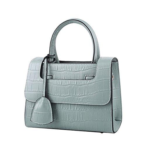 Mena UK Pelle sintetica femminile Alta capacità Barra morbida Soft color Grande borsa da viaggio e borsa a tracolla ( Colore : Rosa , dimensioni : 23.5cm*19cm*11cm ) Blu