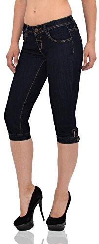 by-tex Damen Capri Hose Damen Caprihose Damen Jeans Capri bis Übergröße J242 Z164