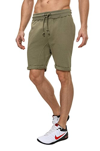Jack & Jones Herren Trainingsshorts Freizeit Shorts Sweat Shorts Olive