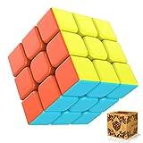 Splaks Zauberwürfel 3x3x3 magisch Würfel Speed Cube mit einstellbaren Dreheigenschaften-ohne