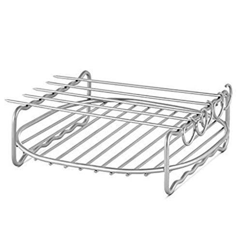 Ersatz-grill-racks (Ben-gi Edelstahl Ersatz für HD9220 HD9232 HD9233 HD9641 HD9646 Grill Air Fryer Rack-Double-Layer-Spieße Backblech)
