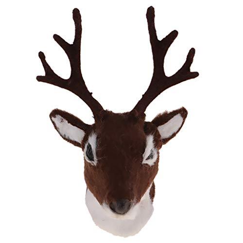 70x90mm Elk Deer Head Cabeza De Animal Decoración De Pared Deer Head Montaje En Pared Escultura