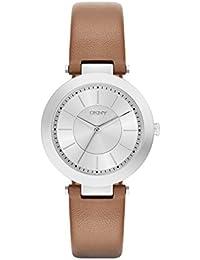 DKNY Damen-Armbanduhr Analog Quarz Leder NY2293