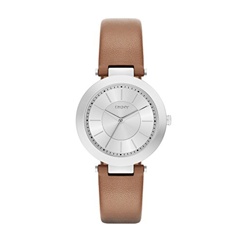 DKNY DamenArmbanduhr Analog Quarz Leder NY2293 (Damen Uhren Leder Dkny)
