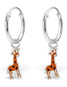 Kleine Giraffe Hoop Ohrringe–Sterling Silber