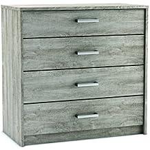 Demeyere legno con 4 cassetti in truciolato 379690 Diva Prata 83 x 42,3 x 80, 20 cm