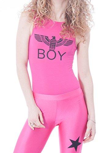 BOY LONDON - Femme body t-shirt sans manches bl592 Fuchsia