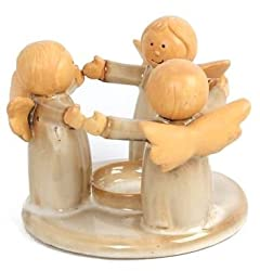 Joyful Circle Of Angels Ceramic Tealight Candle Holder