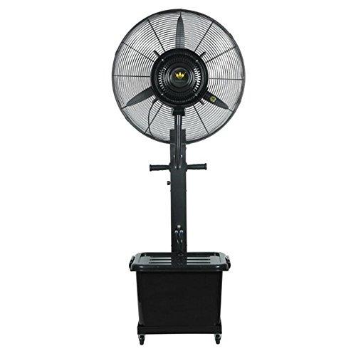 GYH Ventilatoren Misting Fan - Oszillierende Outdoor Große Misting Fan Spray Kühlung Leistungsstarke Standventilator Fan Größe - 26 Zoll Kühlfläche 30-50m2 (220V) (Farbe : Schwarz, größe : 75cm)