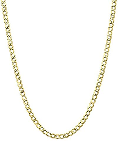 IceCarats 10k Yellow Gold 5.25mm Curb Cuban Link Chain Necklace 24 Inch