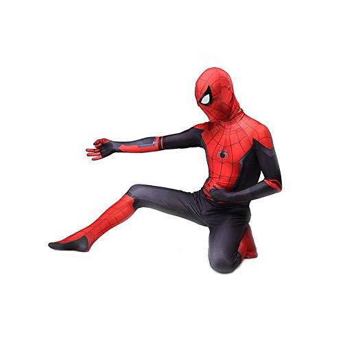 ASJUNQ Spider-Man Kostüm Cosplay Halloween Weihnachten Kostüm Requisiten 3D Print Spandex Jumpsuit Partykleid Lycra Strumpfhose,Child-XL