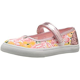 Nina Shoes Girls' Ailis-T-K, Pink Printed Canvas, 12 M US Little Kid