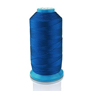 Aussel Black Bonded Nylon Sewing Thread 1500 Yard Size T70 #69 for the Upholstery, Outdoor Market, Drapery, Beading, Luggage, Purses (Dark Blue)