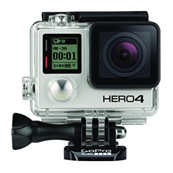 GoPro HERO4 Black Edition Adventure Videocamera 12 MP, 4K/30 fps, 1080p/120 fps, Wi-Fi, Bluetooth, Versione Inglese/Francese