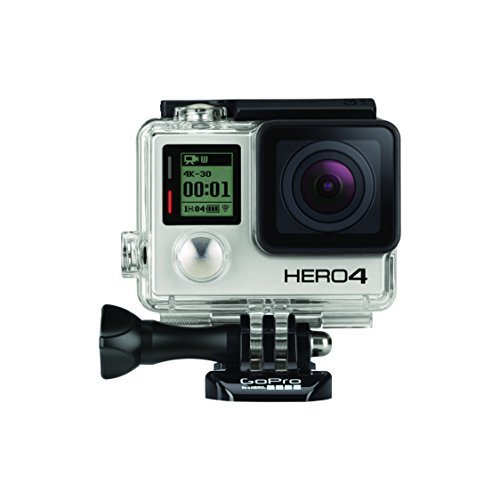GoPro HERO4 Black Edition Adventure - Videocámara deportiva (12 Mp, Wi-Fi, Bluetooth, sumergible hasta 40 m), (versión inglesa/francesa)