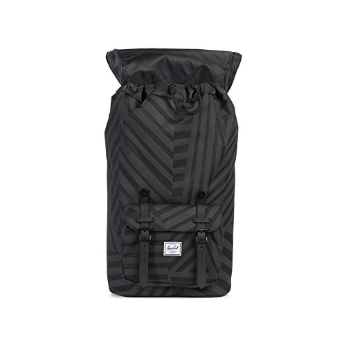 Herschel Supply Co. Rucksack Little America, Raven Crosshatch/Black Rubber (grau) - 10014-01132-OS Dazzle Camo/Black Rubber