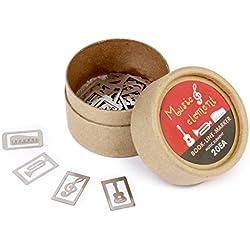 Caja 20Pcs 4 Estilos Marcapaginas Marcadores De Libros Recuerdos Instrumento