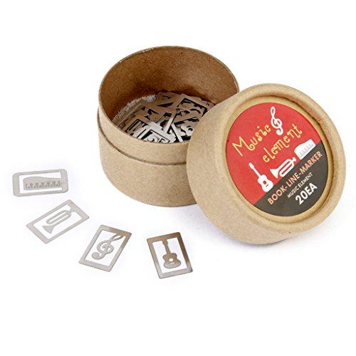Silber Klassische 20 Stück /box 4 Stile Metall Lesezeichen Souvenirs mit Box - Musikinstrument