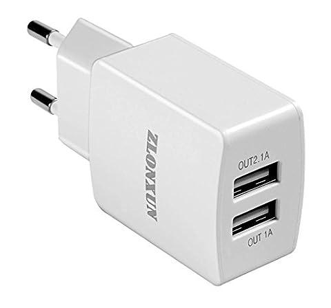 USB Chargeur Adaptateur 2 Ports pour iPhone, iPad,HuaWei,Samsung Galaxy, LG, Nexus,tablette ordinateur,Appareils
