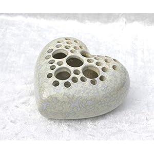 Herz Vase Steckvase Keramik Handarbeit - Geschenk
