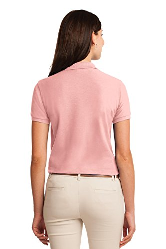 Port Authority Polo Silk Touch. L500 Light Pink