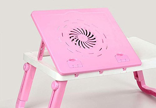 KHSKX Fashion Queen dormitory bed table, simple notebook tablet computer desk, lazy folding desk cooling