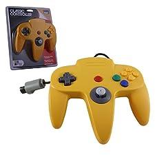 Manette Nintendo 64 N64 Jaune Controller De Jeu (forme officielle) - NXN64-124