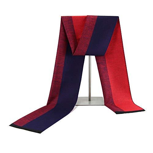 Klassischer Geschäfts-Beiläufiger Schal Der Männer Im Mittleren Alter Imitation Kaschmir-Warmer Schal