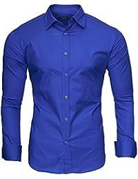 Kayhan originale uomo camicia slim fit facile stiro cotone maniche lungo S  M L XL XXL 2XL - 26090f529f2c