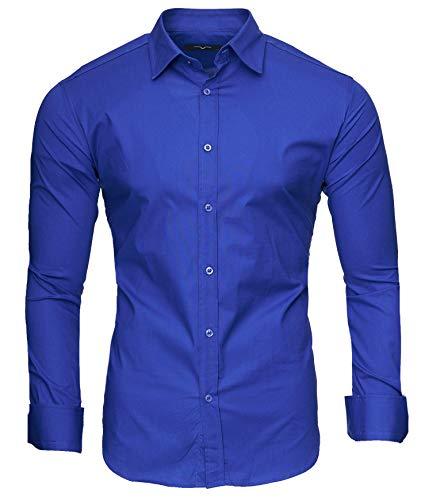 Kayhan uni camicia slim fit, blue (s)