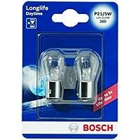 Bosch 1987301055 Longlife - Bombilla P21/5W (para luz de freno, intermitentes, matrícula, etc.)