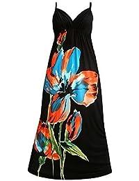 Robe Longue Femme Angela Rope - fleur noir, EU 40-42