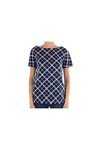 35722NAVY Prada T-Shirt Damen Baumwolle Blau Blau