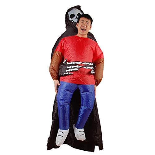 Uus Abbigliamento Gonfiabile di Halloween, Costumi notturni Divertenti del Fantasma straniero Gonfiabile del Partito (Altezza 1.5m o più) (Colore : A)