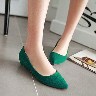 Confortevole ed elegante piatto scarpe donna Primavera Estate Autunno in similpelle Ufficio Outdoor & Carriera Casual tacco basso altri Nero Rosso Verde Beige Green