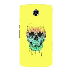 Back cover for Nexus 6 Colourful Skull 2