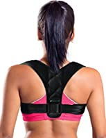 Piero Lorenzo Figure 8 Posture Corrector Clavicle Support Brace for Upper Back & Shoulder, Best Brace Help to Inprove Posture for Men & Women