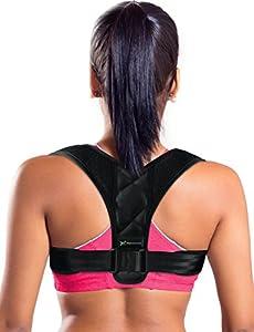 Piero Lorenzo Figure 8 Posture Corrector Clavicle Support Brace for Upper Back & Shoulder, Best Brace Help to Inprove Posture for Men & Women