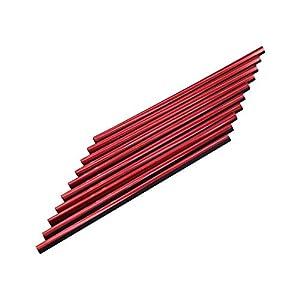 10 Stück Auto Lüftungsschlitz Auslassleiste, Auto Styling Lüftungsgitter Auslass Zierleiste Leiste Innenverkleidung Dekoration (Rot)