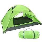 iBaseToy Wasserdicht Zelt für 2 Personen - Leicht Aufzubauen, Campingzelt Familienzelt Kuppelzelte mit Tragetasche für Camping Wandern Reisen Strand und Den Außenbereich Geeignet (grün)