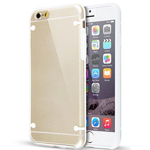 Hülle f Apple iPhone 6 Tasche Schutzhülle Silikon Case TPU Cover Schutzcase Bag , Farben:Lila Weiss